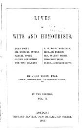 Lives of Wits and Humourists: R. Brinsley Sheridan. Richard Porson. Rev. Sydney Smith. Theodore Hook. James and Horace Smith