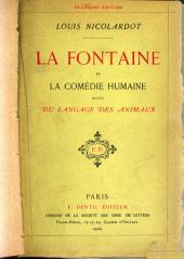 La Fontaine et la comédie humaine: suivi Du langage des animaux