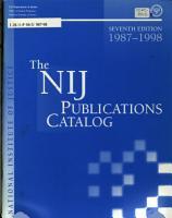 The NIJ Publications Catalog PDF