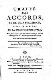 Traité des accords et de leur succession selon le systéme de la Basse-fondamentale