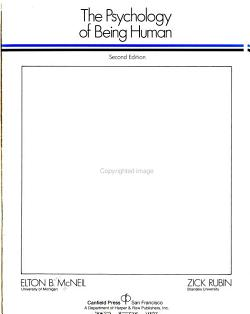 The Psychology of Being Human PDF