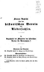 Nachricht über den Historischen Verein für Niedersachsen: Ausgabe 7