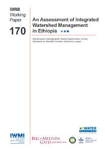 An Assessment of Integrated Watershed Management in Ethiopia