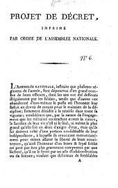 Projet de décret [sur les délits et les peines militaires], imprimé par ordre de l'Assemblée nationale