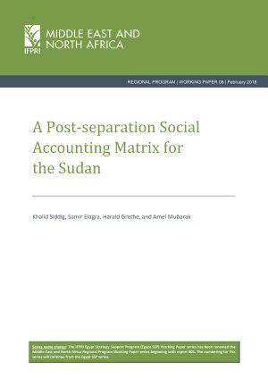 A post separation Social Accounting Matrix for the Sudan PDF
