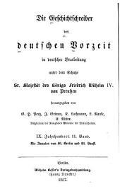 Die annalen von St. Bertin und St. Vaast: nach der Ausgabe der Monumenta Germaniae, Band 11,Teil 34