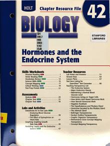 Holt Biology  Hormones and the endocrine system PDF
