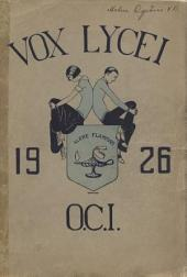 Vox Lycei 1925-1926