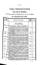 Bulletin des lois de la Republique Francaise: Volume11;Volume1831;Volume1833;Volume1869