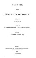 Register of the University of Oxford PDF
