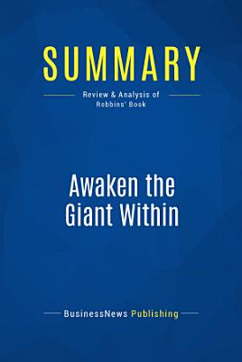 Summary  Awaken the Giant Within PDF