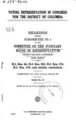 Voting Representation in Congress for the District of Columbia