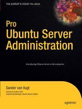 Pro Ubuntu Server Administration