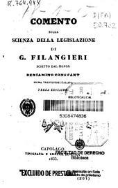 Comento sulla scienza della legislazione di G. Filangieri