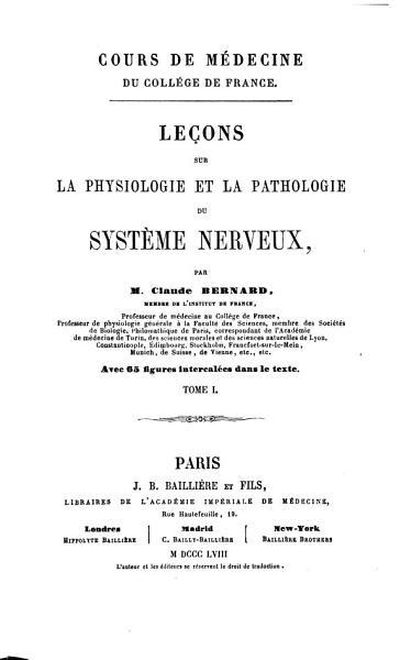 Download Le  ons sur la physiologie et la pathologie du Syst  me Nerveux Book