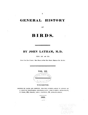 A General History of Birds