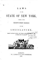 Laws of the State of New York: Volume 1