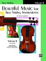 Beautiful Music for Two String Instruments  Book II for Two Violins PDF