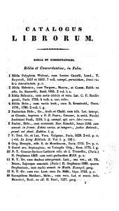 Veilingcatalogus, boeken van Johannes Henricus van der Palm, 20 tot 28 april 1841