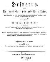 Hesperus oder Belehrung und Unterhaltung für die Bewohner des österreichischen Staats von Christian Carl Andre: Band 21