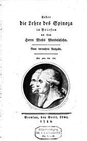 Ueber die Lehre des Spinoza in Briefen an den Herrn Moses Mendelssohn