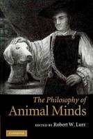 The Philosophy of Animal Minds PDF