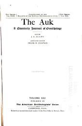 The Auk: Volume 21