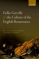Fulke Greville and the Culture of the English Renaissance PDF
