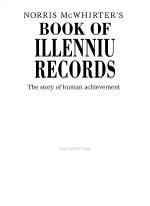 Norris McWhirter's Book of Millennium Records