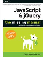 JavaScript   JQuery  The Missing Manual PDF