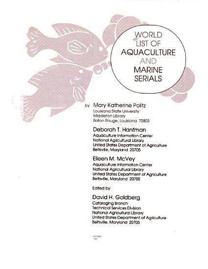 World List of Aquaculture and Marine Serials PDF