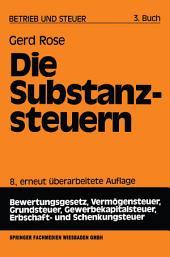 Die Substanzsteuern: Ausgabe 8