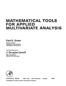 Mathematical Tools for Applied Multivariate Analysis PDF