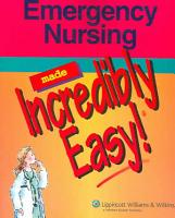 Emergency Nursing Made Incredibly Easy  PDF