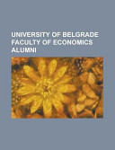 University of Belgrade Faculty of Economics Alumni
