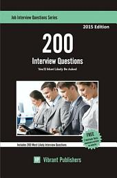 200 Interview Questions You'll Most Likely Be Asked