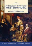 Norton Anthology of Western Music  8th Edition Volume 1 Reg Card