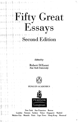 Fifty Great Essays PDF