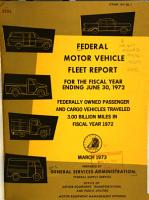 Federal Motor Vehicle Fleet Report for the Fiscal Year Ending     PDF