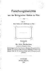 Forschungsberichte aus der Biologischen Station zu Plön: Teil 7