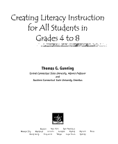 Creating Literacy Instruction for All Students in Grades 4 to 8 PDF