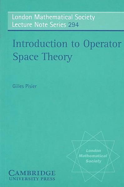 Download Introduction to Operator Space Theory Book