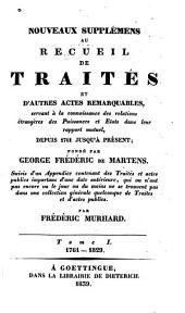 Nouveaux supplémens au recueil de traités: Volume1
