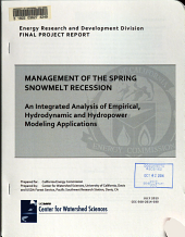 Management of the Spring Snowmelt Recession PDF