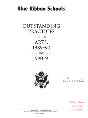Outstanding Practices in the Arts  1989 90 and 1990 91