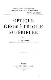 Optique géométrique supérieure: Volume2