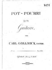 Pot-Pourri: für die Guitarre