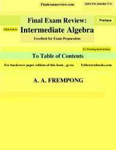 Final Exam Review: Intermediate Algebra