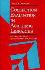 Collection Evaluation in Academic Libraries