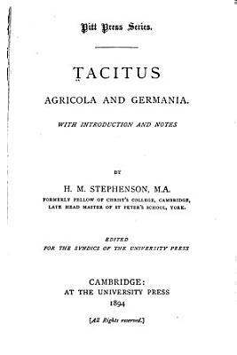 Tacitus Agricola and Germania